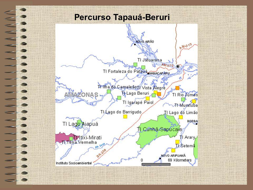 Percurso Tapauá-Beruri