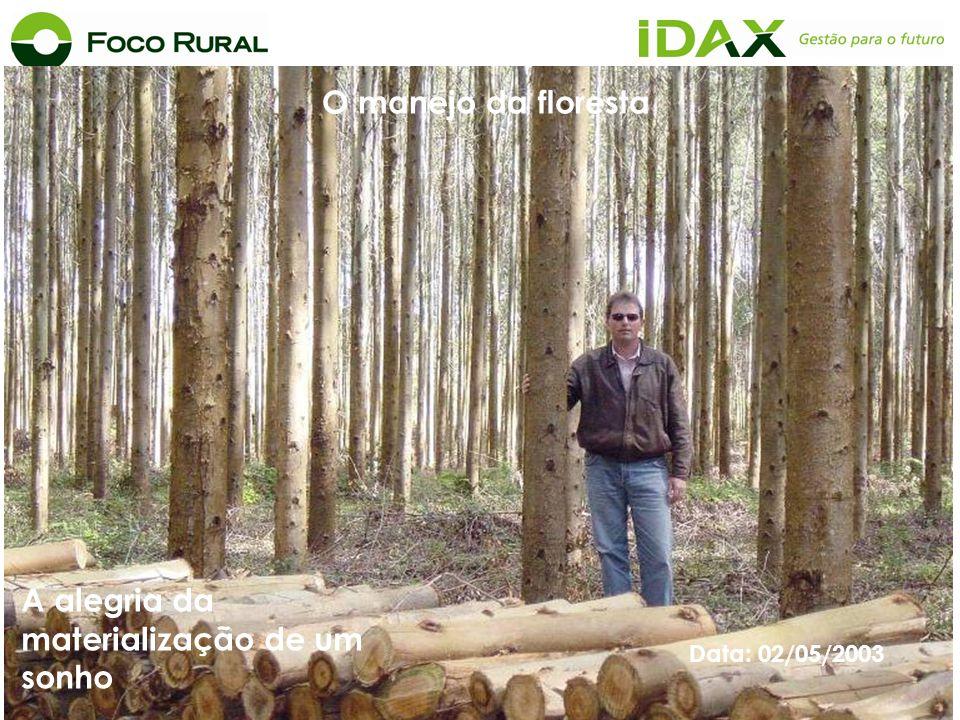 Data: 02/05/2003 A alegria da materialização de um sonho O manejo da floresta