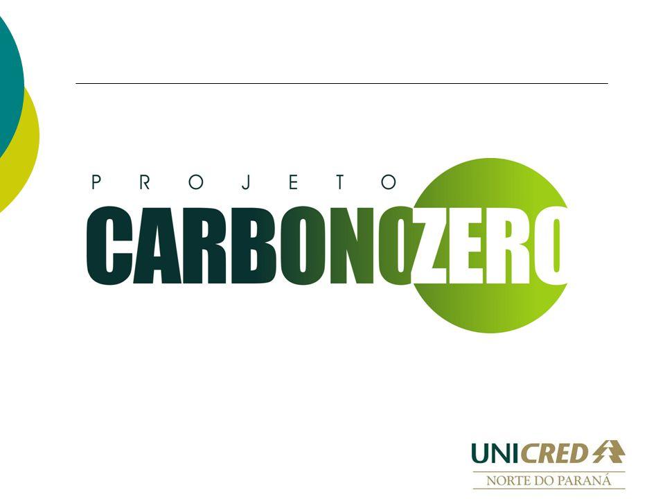 Objetivo O projeto Carbono Zero tem como objetivo compensar as emissões de Gases de Efeito Estufa (GEE) da Unicred Norte do Paraná, diminuindo assim seu impacto no meio ambiente, em busca de um desenvolvimento sustentável e de uma política ecologicamente correta.