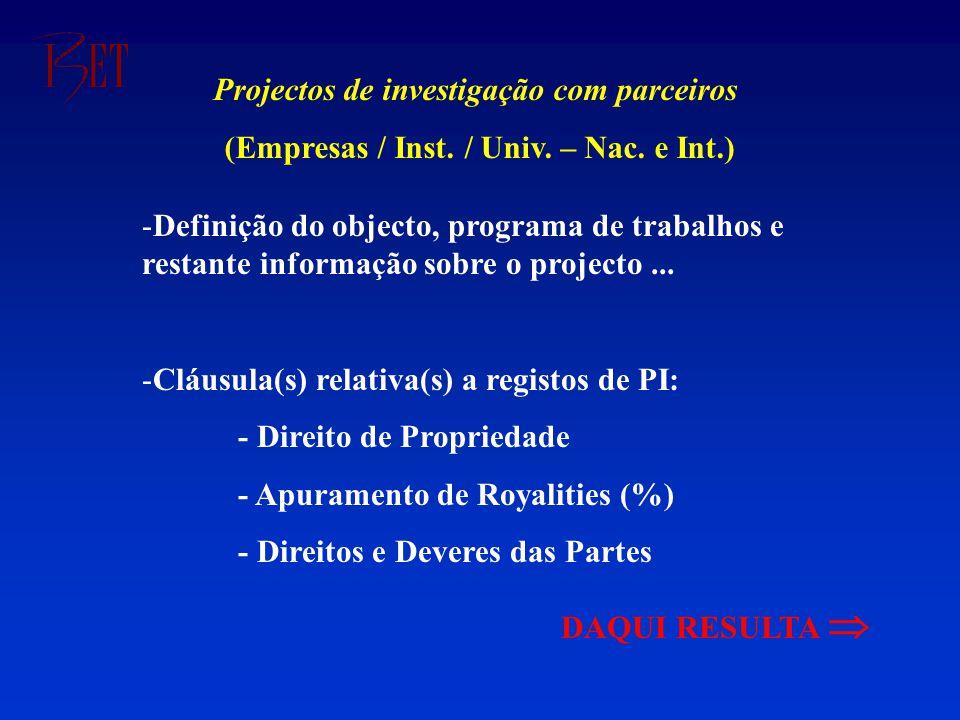 -Definição do objecto, programa de trabalhos e restante informação sobre o projecto...