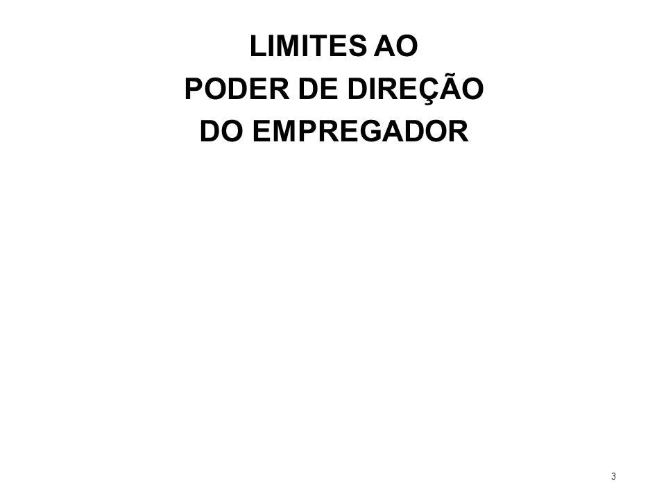 LIMITES AO PODER DE DIREÇÃO DO EMPREGADOR 3