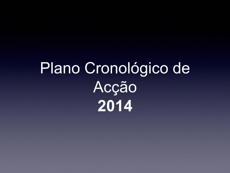 Plano Cronológico de Acção 2014