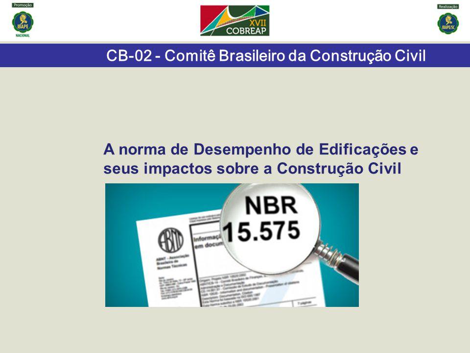 CB-02 - Comitê Brasileiro da Construção Civil A norma de Desempenho de Edificações e seus impactos sobre a Construção Civil