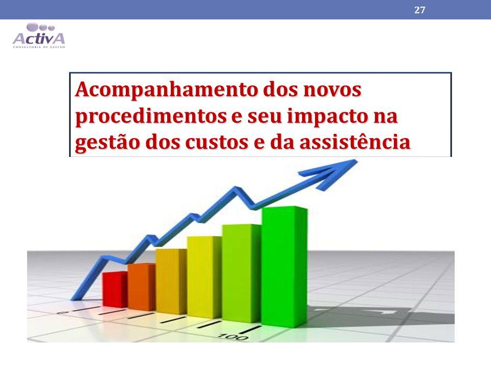 Acompanhamento dos novos procedimentos e seu impacto na gestão dos custos e da assistência 27