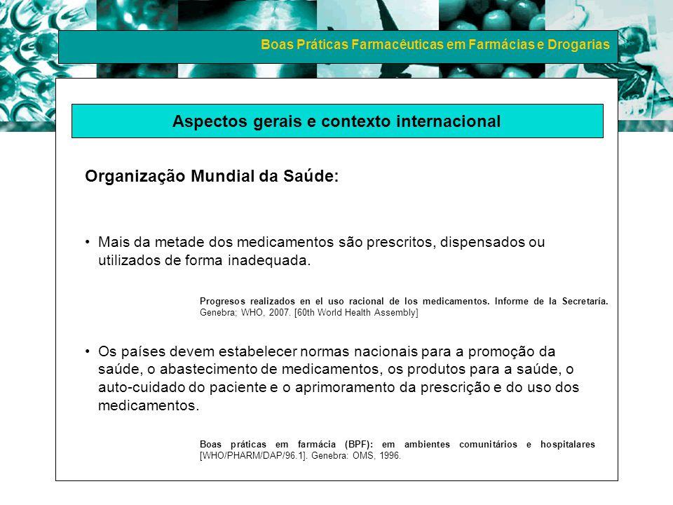 Boas Práticas Farmacêuticas em Farmácias e Drogarias CPI DE MEDICAMENTOS: RECOMENDAÇÕES (2000) POLÍTICAS DE SAÚDE POLÍTICA NACIONAL DE MEDICAMENTOS (1998) POLÍTICA NACIONAL DE ASSISTÊNCIA FARMACÊUTICA (2004) PLANO NACIONAL DE SAÚDE (2004) I CONFERÊNCIA NACIONAL DE ASSIST.