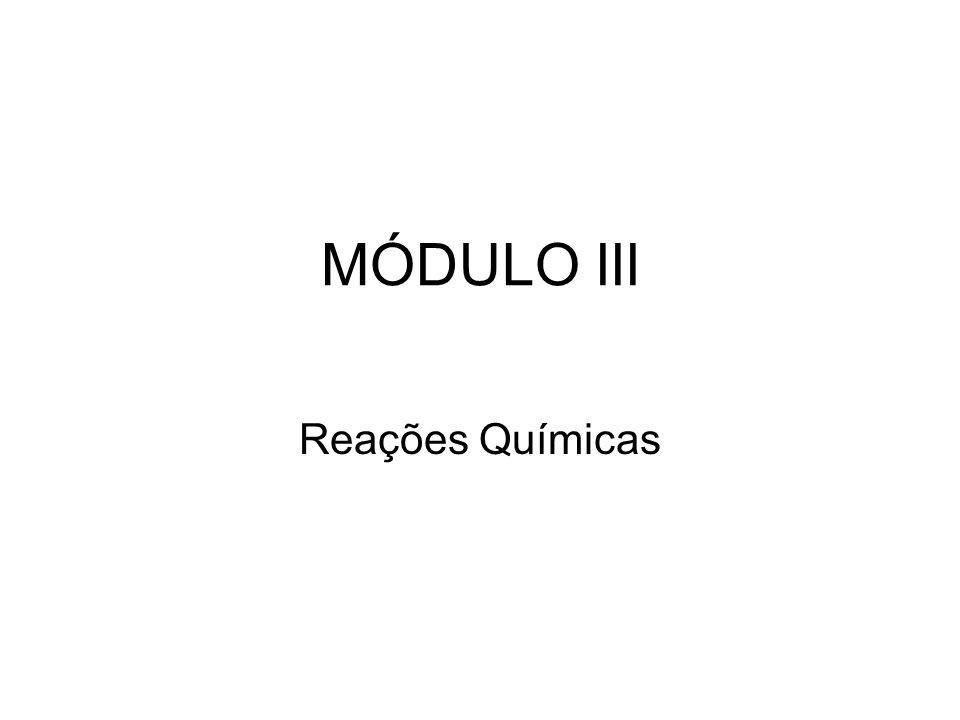 MÓDULO III Reações Químicas