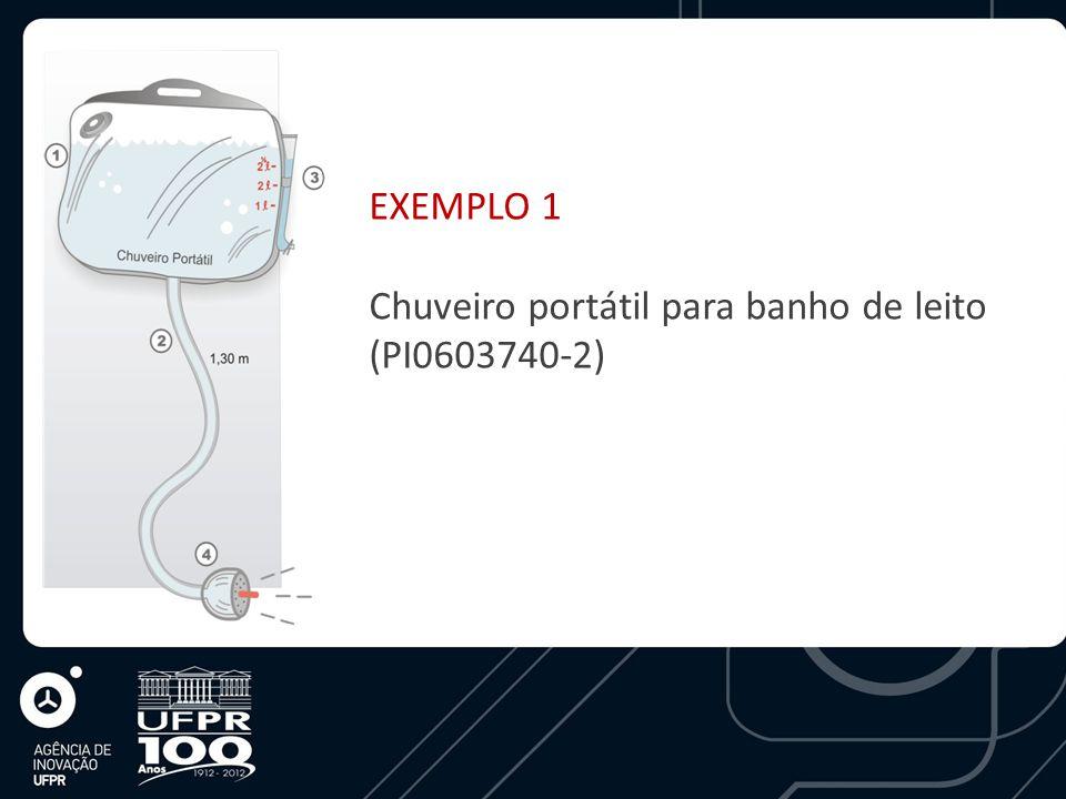 EXEMPLO 1 Chuveiro portátil para banho de leito (PI0603740-2)