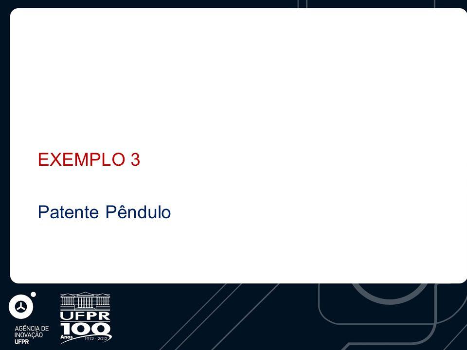 EXEMPLO 3 Patente Pêndulo