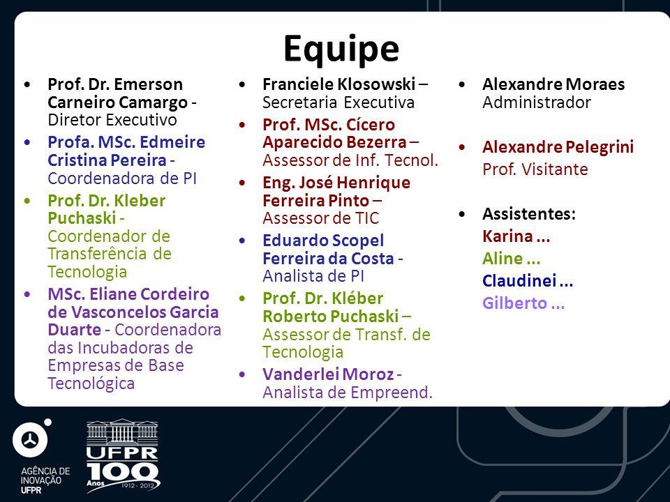 Equipe Prof. Dr. Emerson Carneiro Camargo - Diretor Executivo Profa.