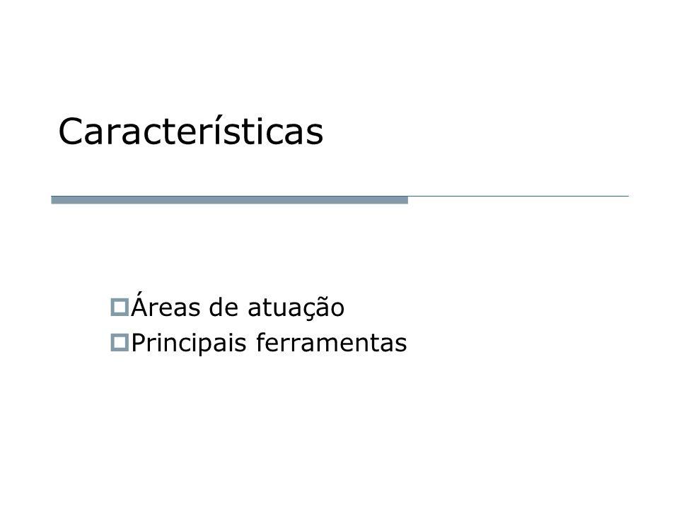 Características  Áreas de atuação  Principais ferramentas