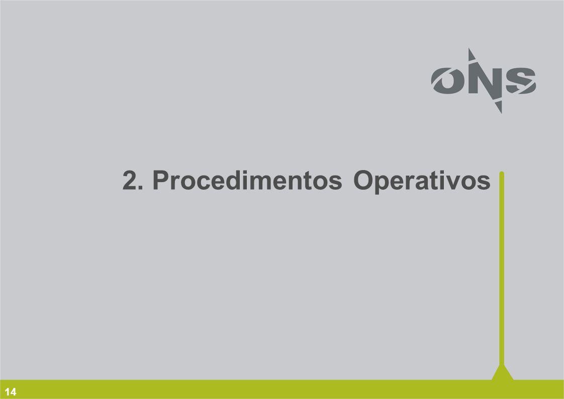 14 2. Procedimentos Operativos