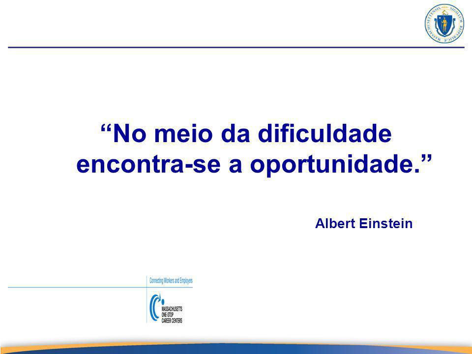 No meio da dificuldade encontra-se a oportunidade. Albert Einstein