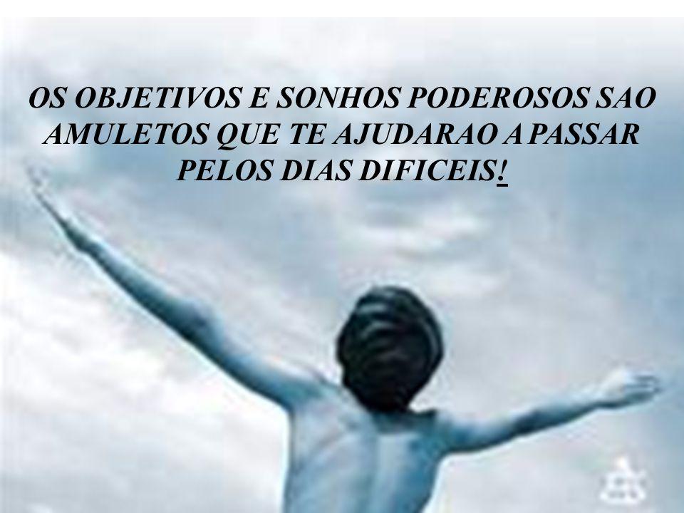 OS OBJETIVOS E SONHOS PODEROSOS SAO AMULETOS QUE TE AJUDARAO A PASSAR PELOS DIAS DIFICEIS!