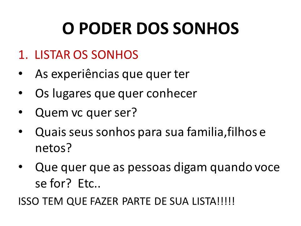 O PODER DOS SONHOS 1.