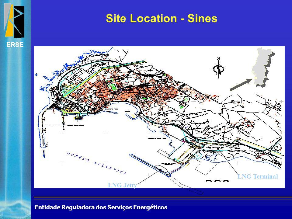 Entidade Reguladora dos Serviços Energéticos ERSE LNG Jetty LNG Terminal Site Location - Sines