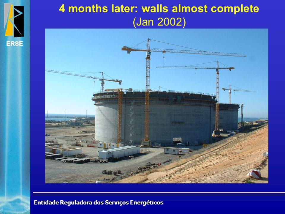 Entidade Reguladora dos Serviços Energéticos ERSE 4 months later: walls almost complete (Jan 2002)
