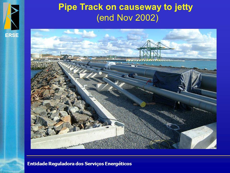 Entidade Reguladora dos Serviços Energéticos ERSE Pipe Track on causeway to jetty (end Nov 2002)
