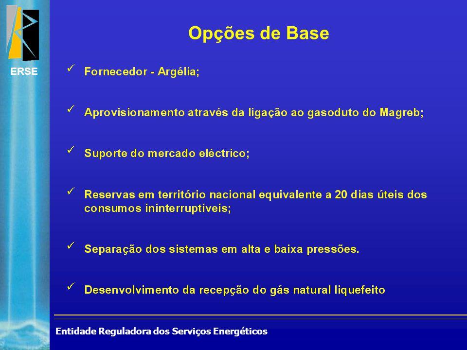 Entidade Reguladora dos Serviços Energéticos ERSE Opções de Base