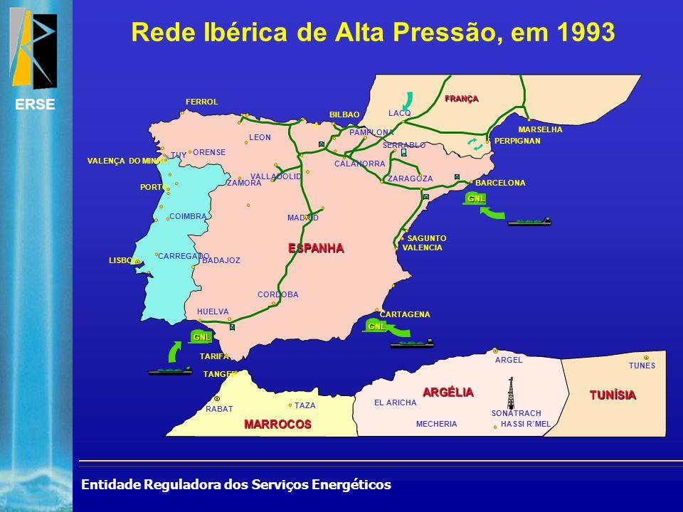 Entidade Reguladora dos Serviços Energéticos ERSE Rede Ibérica de Alta Pressão, em 1993