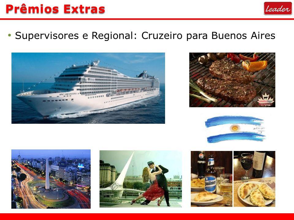 Prêmios Extras Supervisores e Regional: Cruzeiro para Buenos Aires