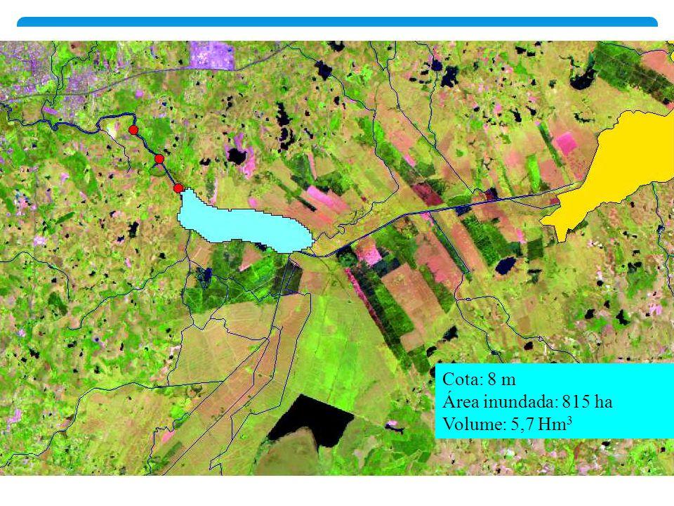 Cota: 8 m Área inundada: 815 ha Volume: 5,7 Hm 3