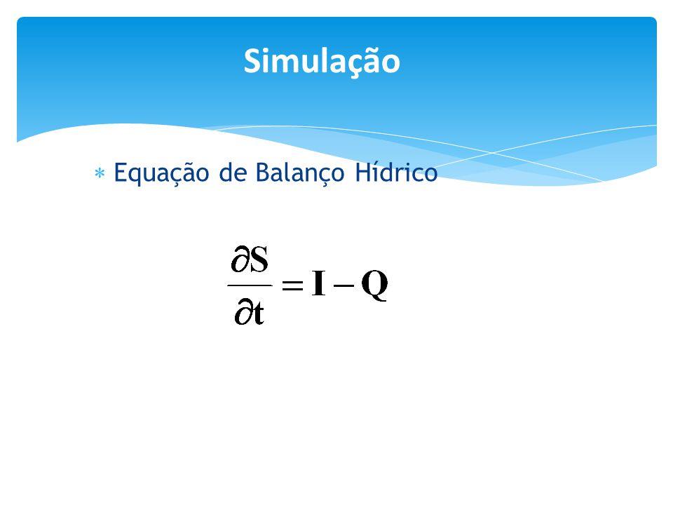  Equação de Balanço Hídrico Simulação