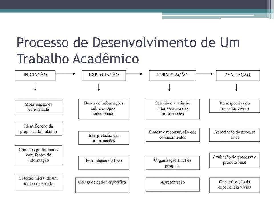Processo de Desenvolvimento de Um Trabalho Acadêmico