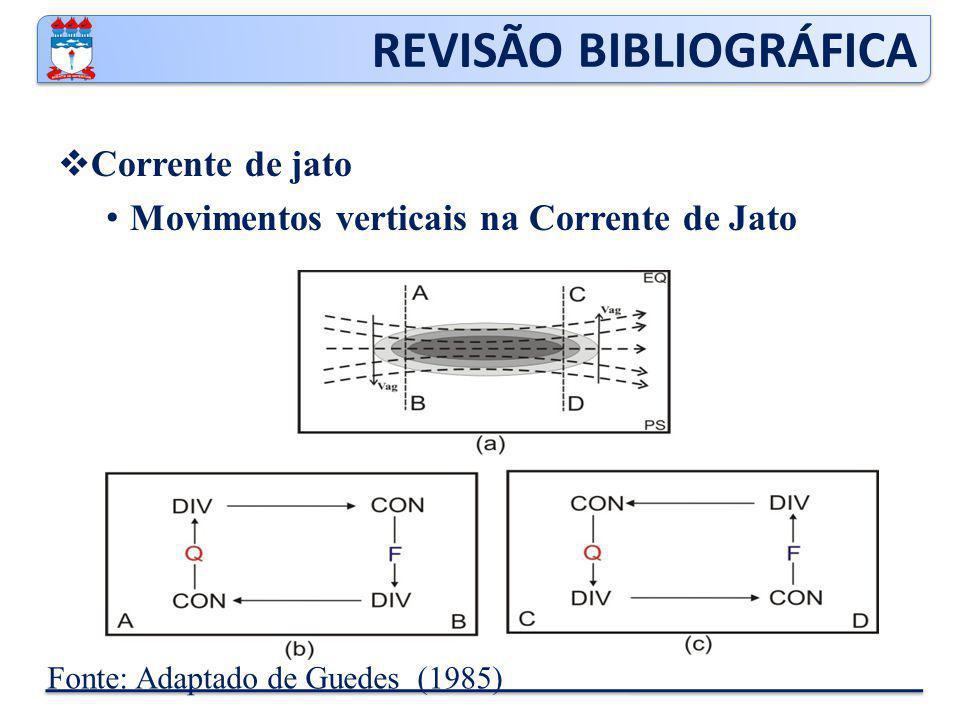 REVISÃO BIBLIOGRÁFICA  Corrente de jato Movimentos verticais na Corrente de Jato Fonte: Adaptado de Guedes (1985)