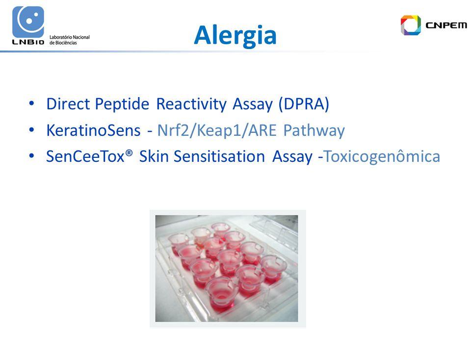 Alergia Direct Peptide Reactivity Assay (DPRA) KeratinoSens - Nrf2/Keap1/ARE Pathway SenCeeTox® Skin Sensitisation Assay -Toxicogenômica