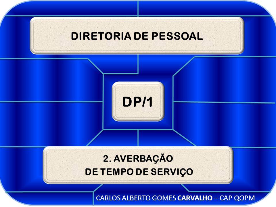 DIRETORIA DE PESSOAL DP/1 2. AVERBAÇÃO DE TEMPO DE SERVIÇO CARLOS ALBERTO GOMES CARVALHO – CAP QOPM