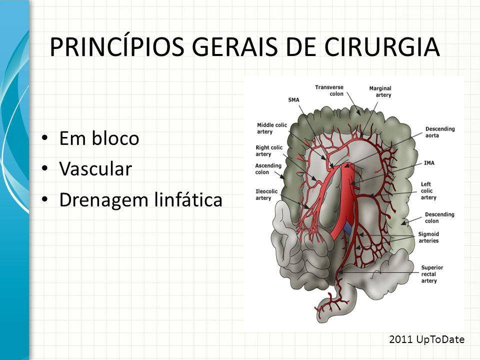 PRINCÍPIOS GERAIS DE CIRURGIA Em bloco Vascular Drenagem linfática 2011 UpToDate