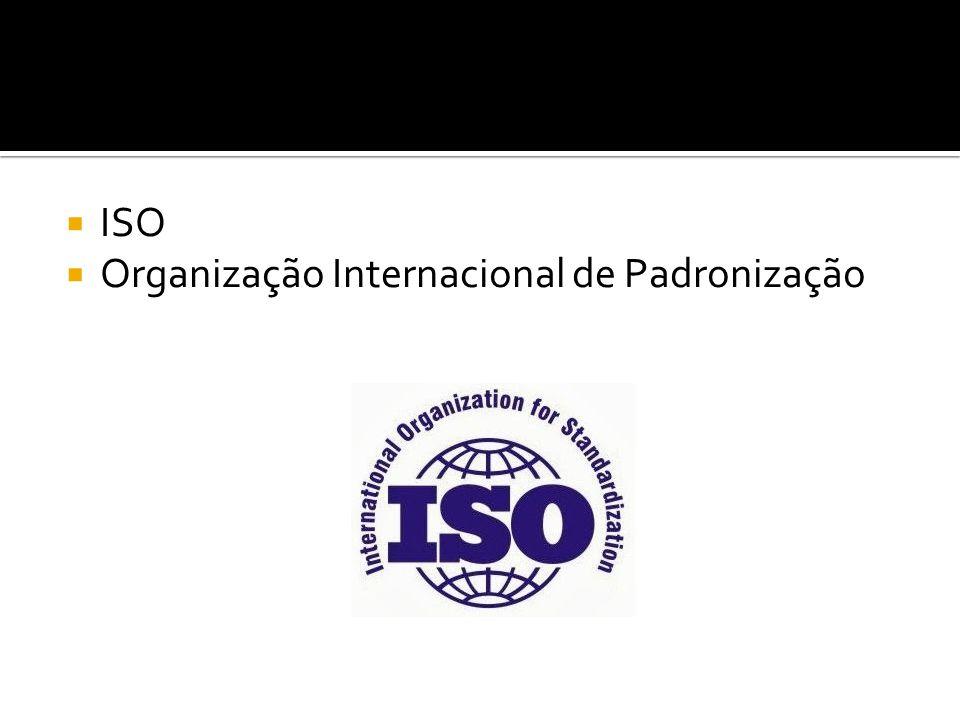  ISO  Organização Internacional de Padronização