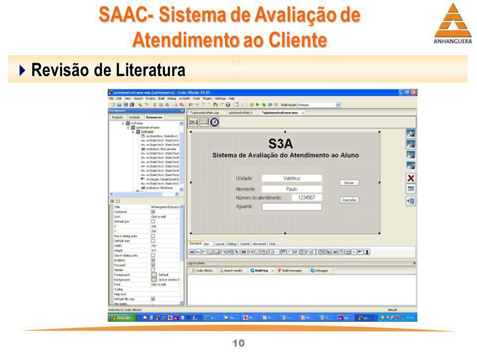 10  Revisão de Literatura SAAC- Sistema de Avaliação de Atendimento ao Cliente