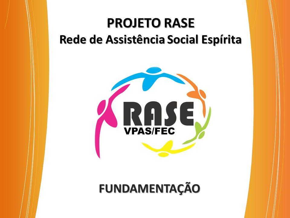 PROJETO RASE Rede de Assistência Social Espírita FUNDAMENTAÇÃO