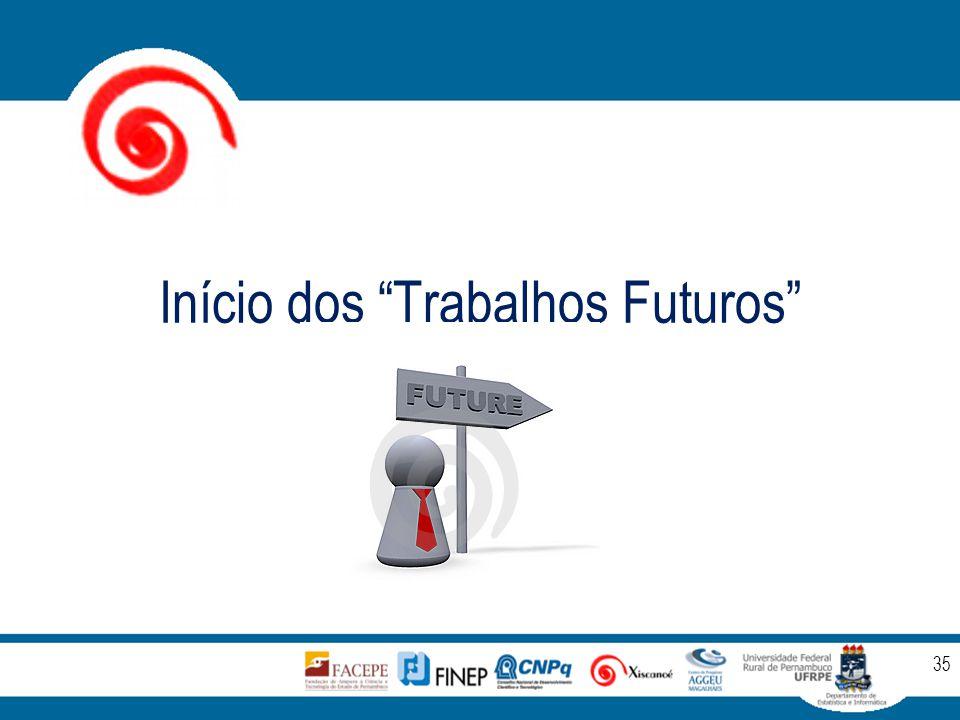 """Início dos """"Trabalhos Futuros"""" 35"""