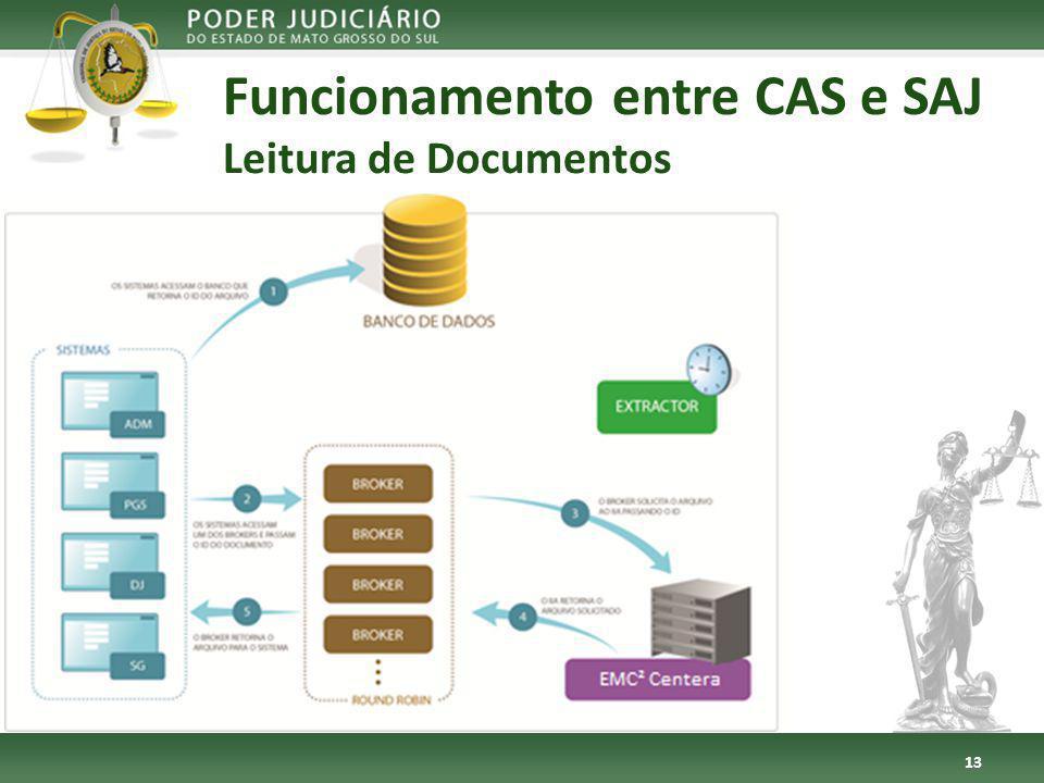 Funcionamento entre CAS e SAJ Leitura de Documentos 13