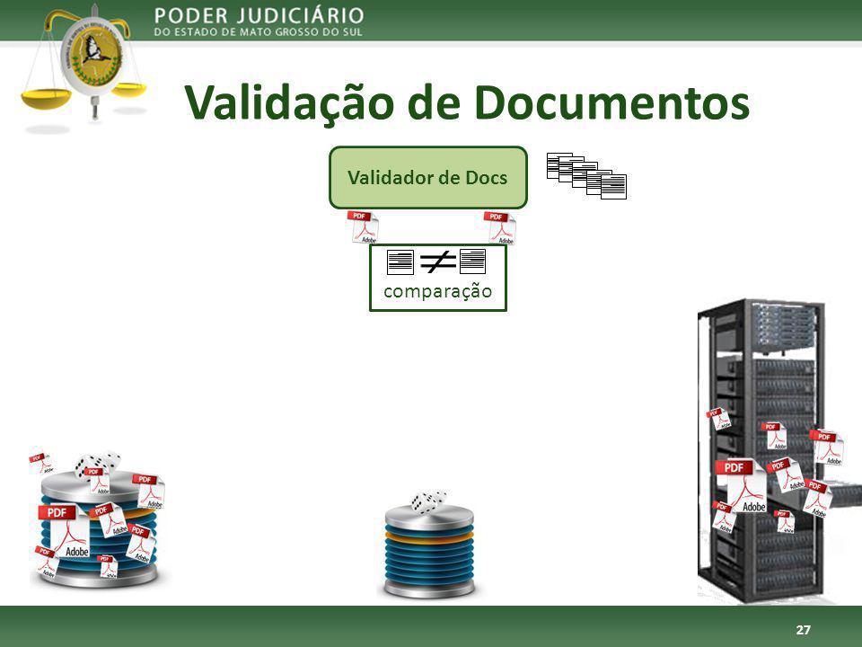 comparação Validação de Documentos 27 Validador de Docs
