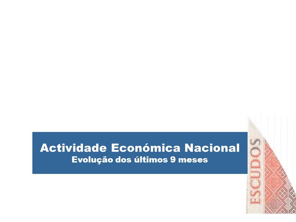 Actividade Económica Nacional Evolução dos últimos 9 meses