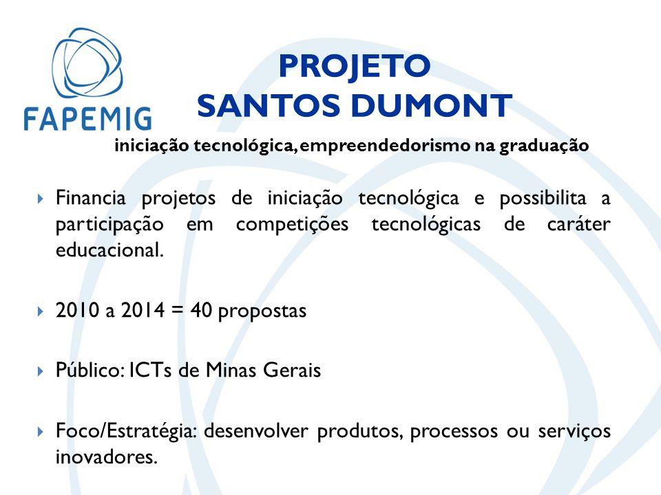  Financia projetos de iniciação tecnológica e possibilita a participação em competições tecnológicas de caráter educacional.