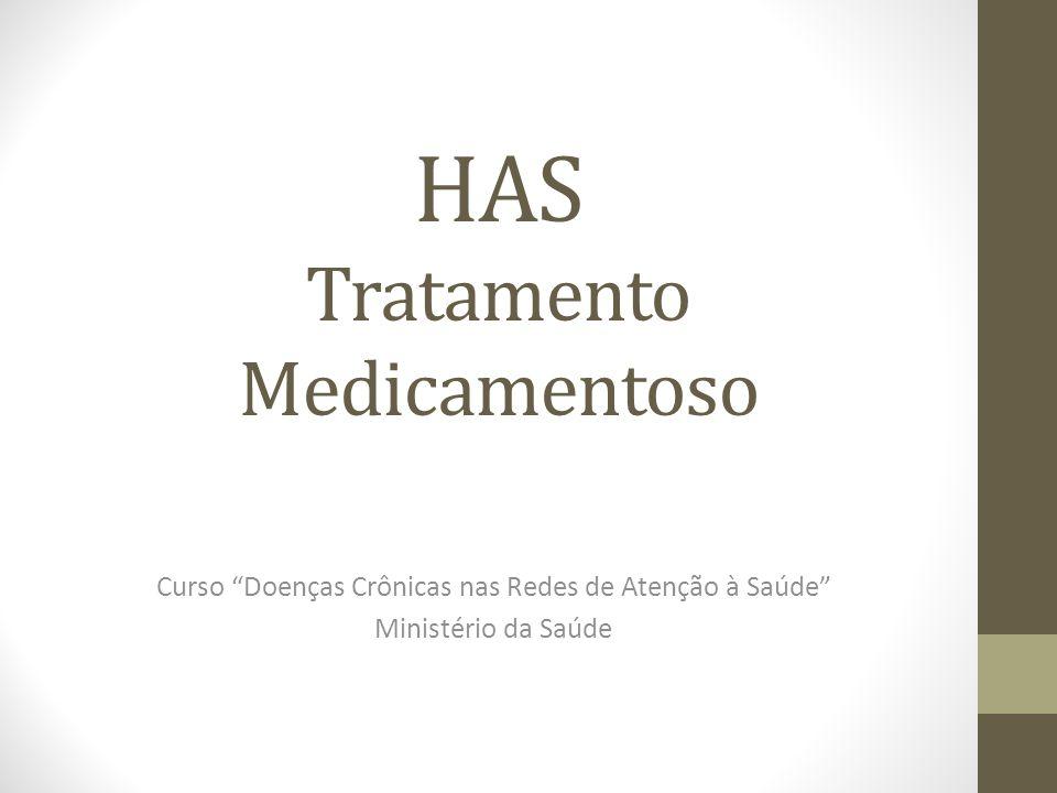 """HAS Tratamento Medicamentoso Curso """"Doenças Crônicas nas Redes de Atenção à Saúde"""" Ministério da Saúde"""