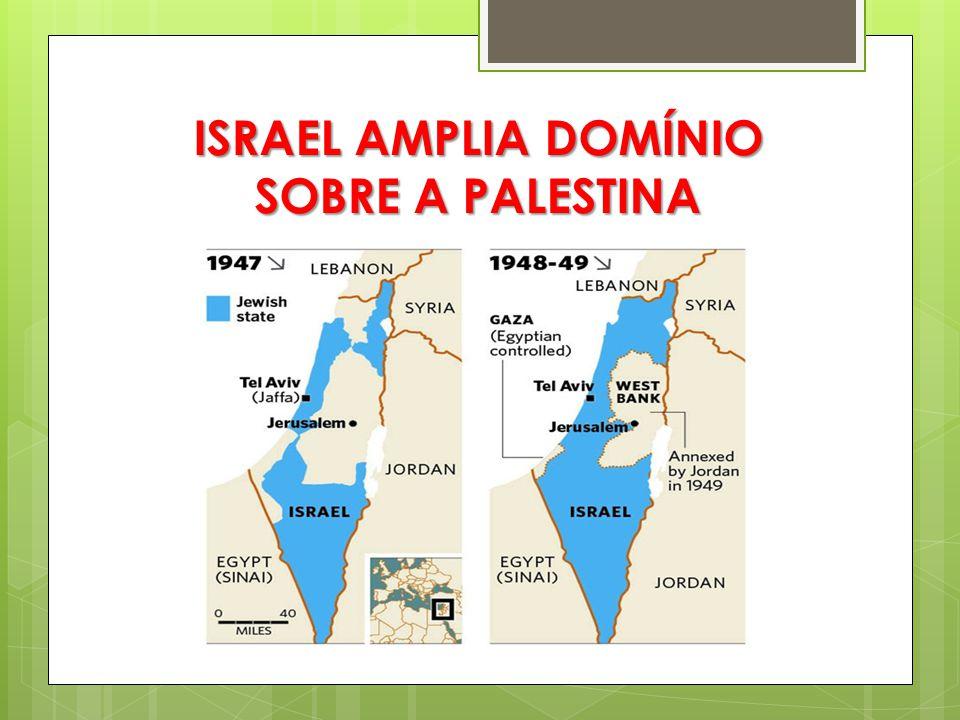 RELAÇÃO COM A GUERRA FRIA  Mundo bipolarizado (EUA x URSS)  EUA passa a apoiar Israel  Árabes acabam sendo induzidos a se aproximar da União Soviética, já que eram inimigos dos judeus
