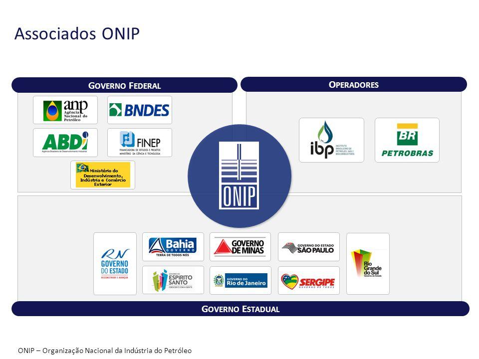 O PERADORES G OVERNO F EDERAL ONIP – Organização Nacional da Indústria do Petróleo G OVERNO E STADUAL Associados ONIP