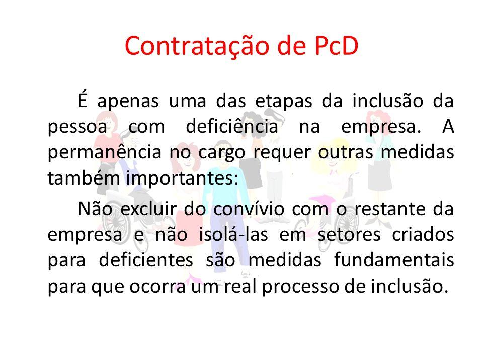 Contratação de PcD É apenas uma das etapas da inclusão da pessoa com deficiência na empresa.