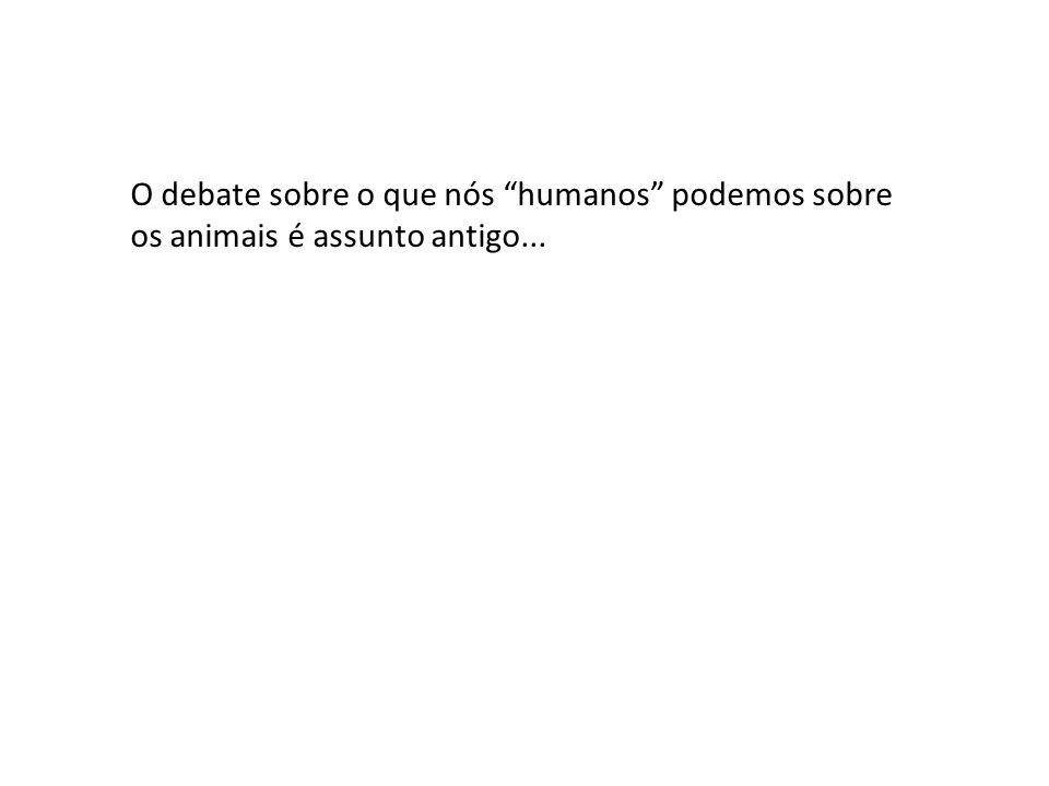O debate sobre o que nós humanos podemos sobre os animais é assunto antigo...
