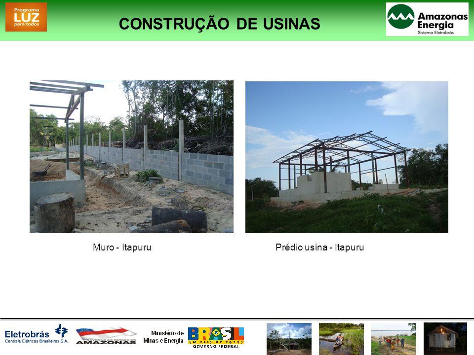 CONSTRUÇÃO DE USINAS Muro - ItapuruPrédio usina - Itapuru