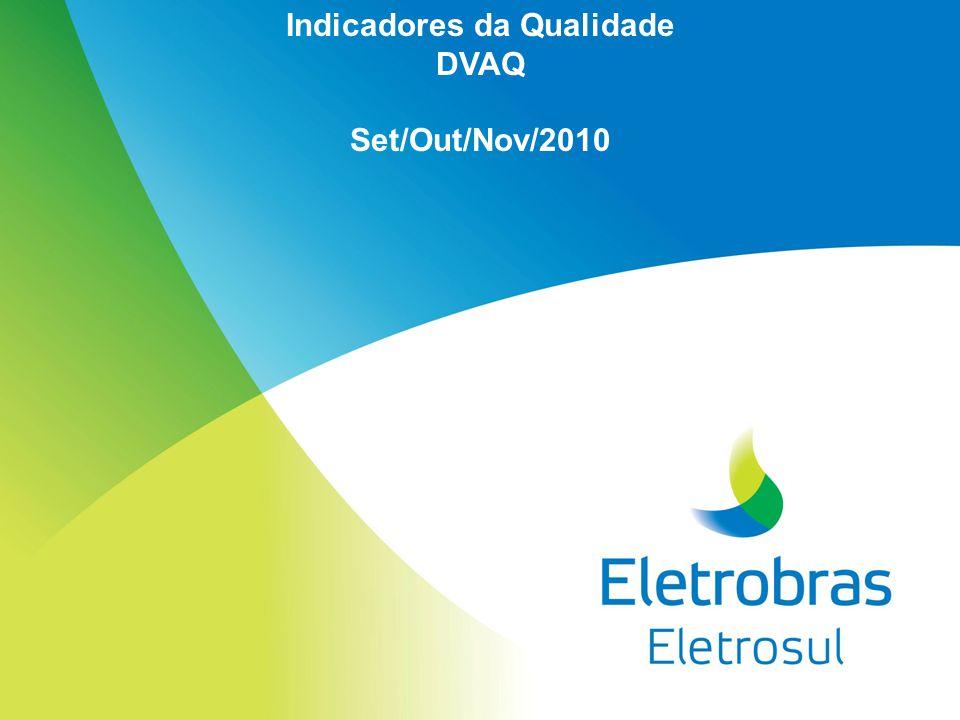 Indicadores da Qualidade DVAQ Set/Out/Nov/2010