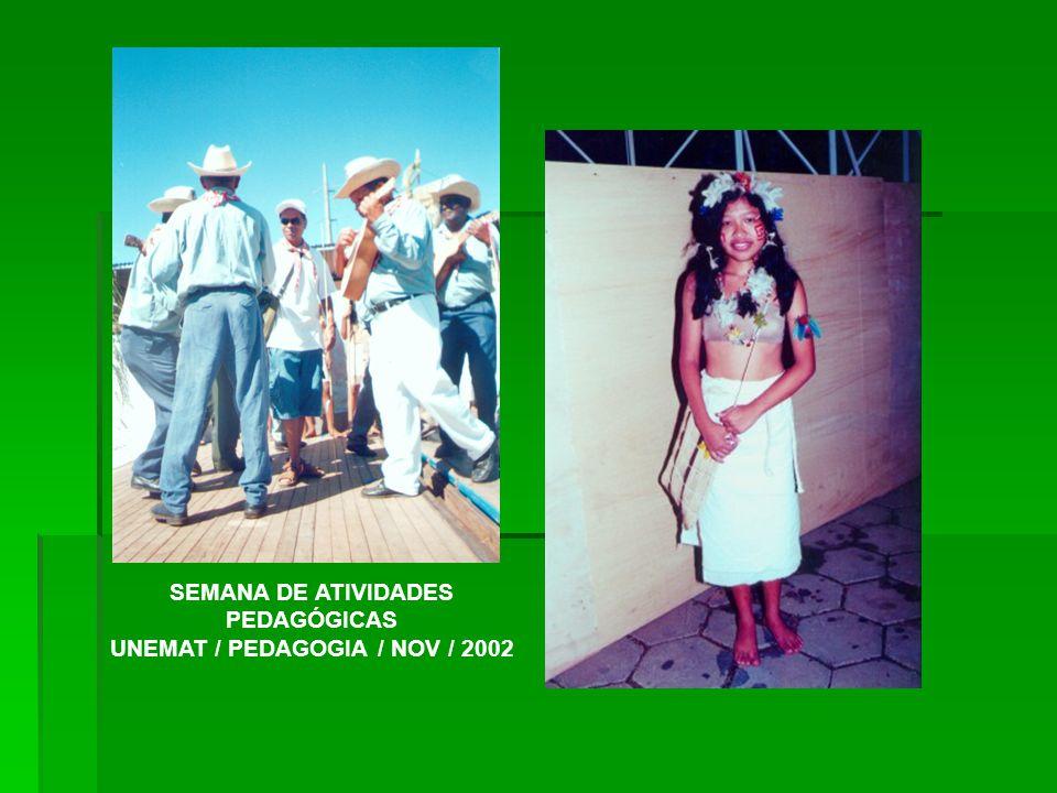 SEMANA DE ATIVIDADES PEDAGÓGICAS UNEMAT / PEDAGOGIA / NOV / 2002