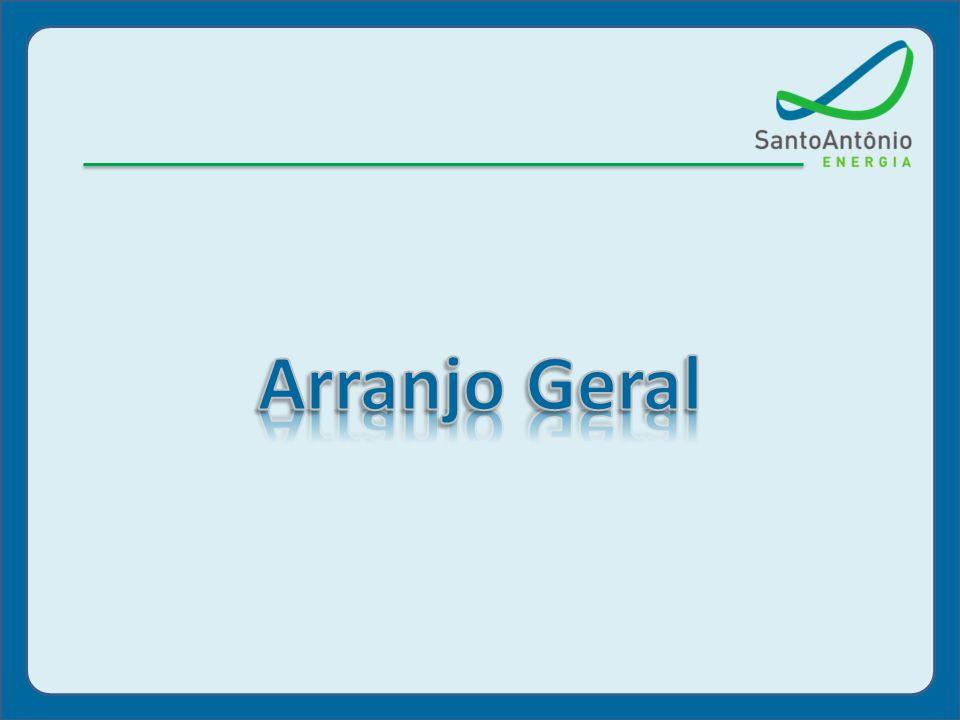 arranjo geral Sistema de Transposição de Peixes (STP 01) Vazão 40 m³/s Canal de Fuga/ Restituição Barragem de Concreto Compactado c/ Rolo (CCR) Fluxo VT Compl.