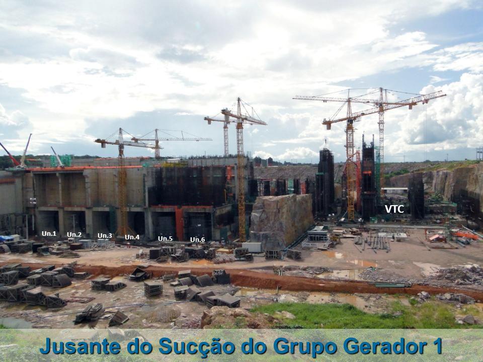 Vista da Ensecadeira ME-2 Jusante Muro Lateral Direito Jusante VTP