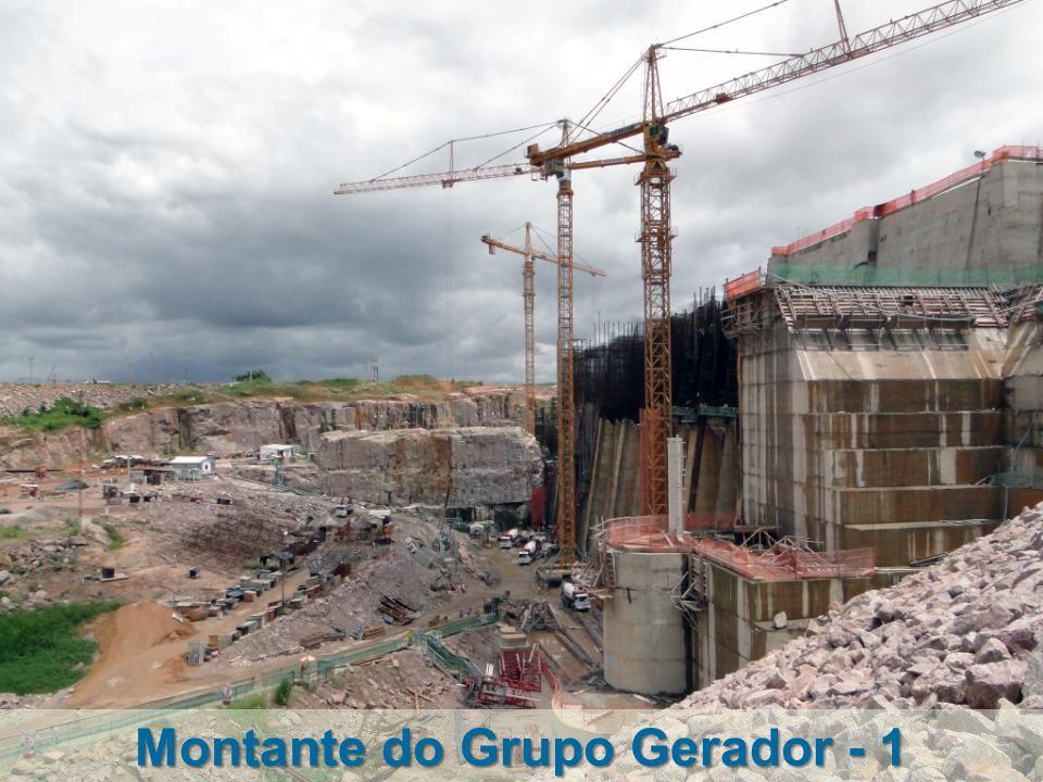 Vista do Muro Lateral Direito Jusante Ensecadeira ME-2 Jusante